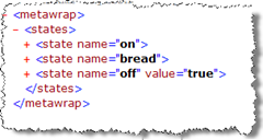 A state machine description consists of a list of states.